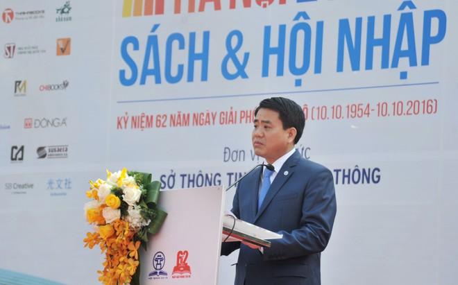 Chủ tịch UBND Thành phố Hà Nội Nguyễn Đức Chung khẳng định sự quan tâm của thành phố đối với việc phát triển văn hóa đọc của Thủ đô
