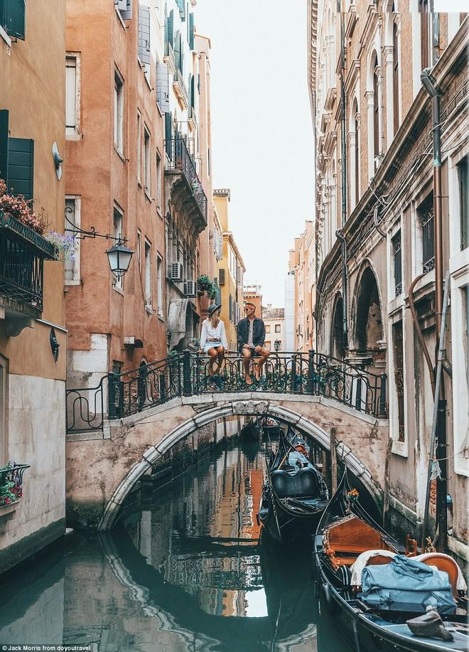 Khung cảnh lãng mạn tại Venice, Italia