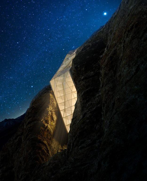 Đêm huyền ảo ở Hotel in Alps