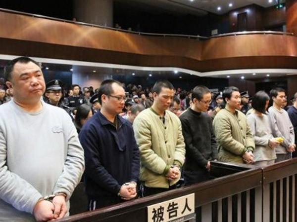 Các nghi phạm thuộc Công ty Bang Gia trong phiên xét xử