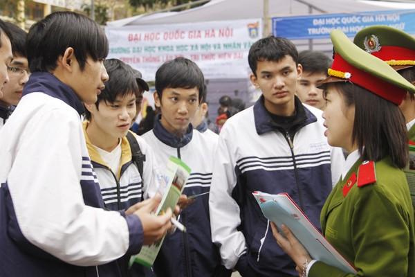 Khối các trường công an gia tăng sức hút thí sinh đăng ký xét tuyển