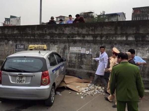 Hiện trường vụ tai nạn trên đường Hồng Hà