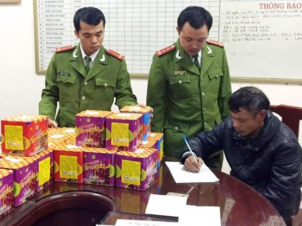 Một vụ vi phạm về pháo bị Công an Hà Nội phát hiện, xử lý