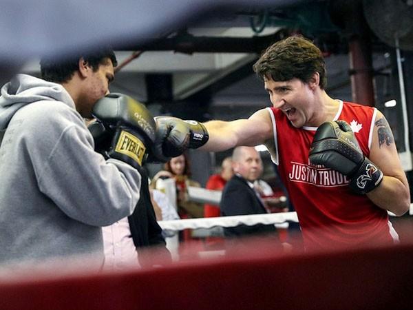 Niềm đam mê boxing của Thủ tướng Canada ảnh 1