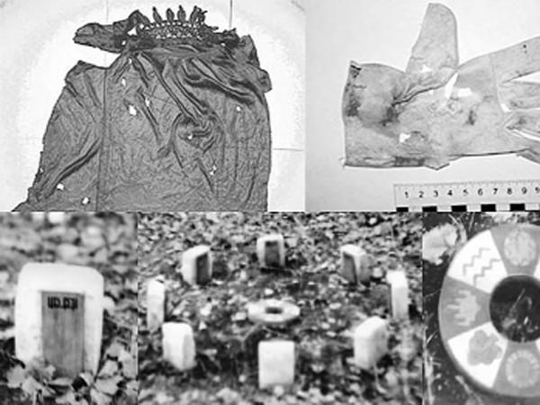 Các chứng cứ gồm chiếc áo gói đầu nạn nhân, găng tay, vòng và những miếng gỗ nhỏ