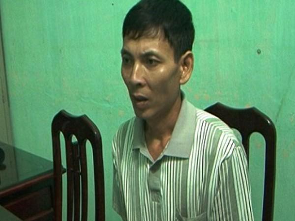 Đối tượng Mai Văn Việt tại cơ quan công an