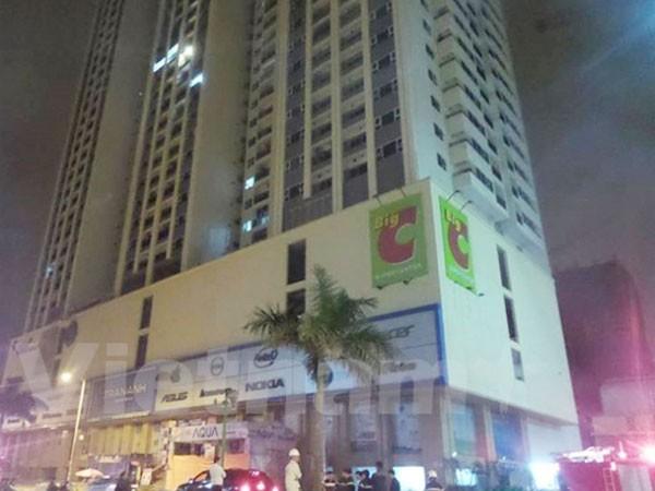 Hiện trường vụ hỏa hoạn xảy ra tại tòa nhà Hồ Gươm Plaza Hà Đông