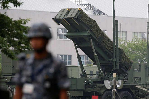 Tên lửa PAC-3 đặt tại trụ sở Bộ Quốc phòng Nhật Bản ở Tokyo