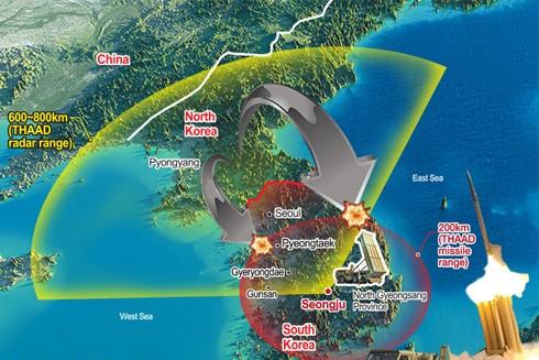 Với tầm bắn 200 km, THAAD có thể kiểm soát toàn bộ bán đảo Triều Tiên