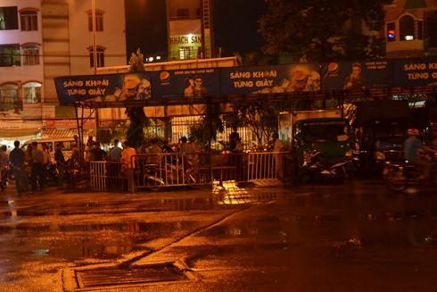 Hiện trường vụ nổ súng tại bến xe Miền Đông ở quận Bình Thạnh, TP.HCM