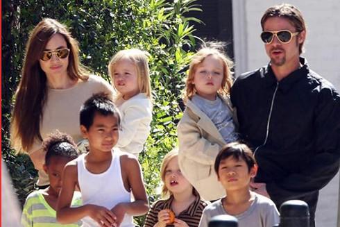 Angelina Jolie muốn toàn quyền nuôi 6 con.