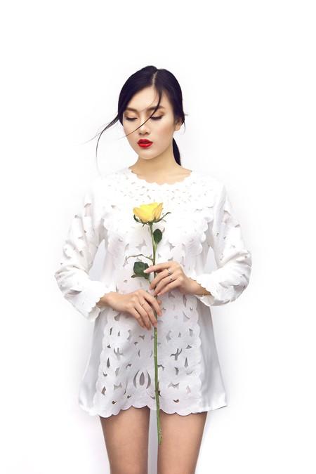 Á khôi Tăng Huỳnh Như khoe sắc như hoa mùa xuân ảnh 1
