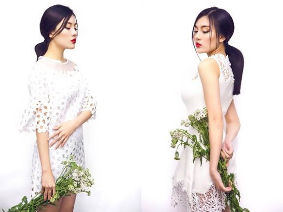 Á khôi Tăng Huỳnh Như khoe sắc như hoa mùa xuân ảnh 2