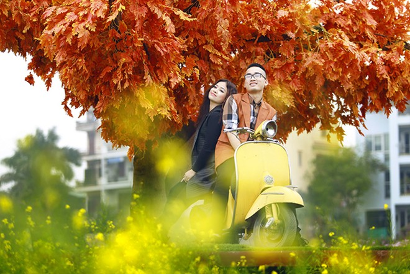 Cặp quán quân Hà Duy - Hoàng Yến lãng mạn giữa vườn hoa xuân ảnh 3