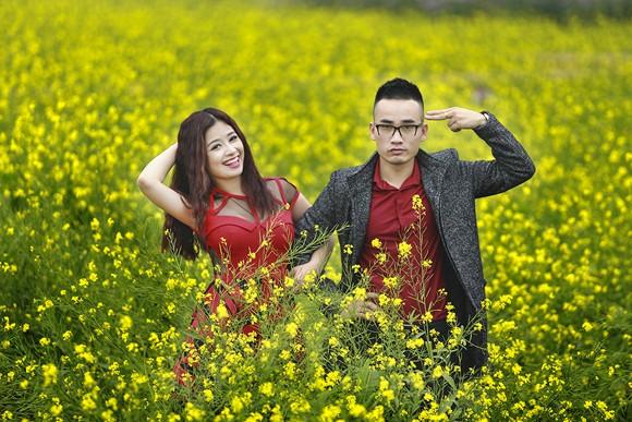 Cặp quán quân Hà Duy - Hoàng Yến lãng mạn giữa vườn hoa xuân ảnh 9