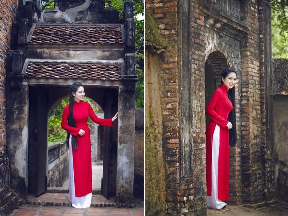 Hoa hậu Ngọc Anh thành kính đi lễ chùa ảnh 7
