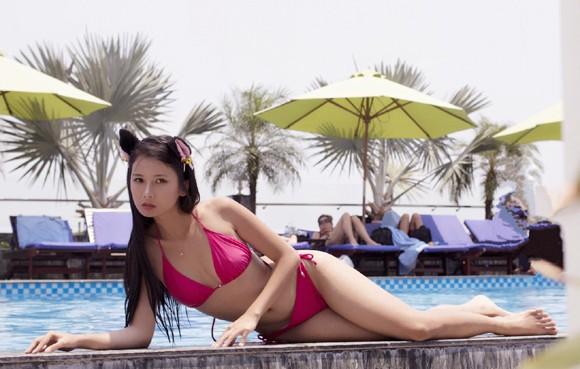 """Người mẫu Xuân Thuỳ """"làm mát"""" bằng bikini gợi cảm ảnh 7"""