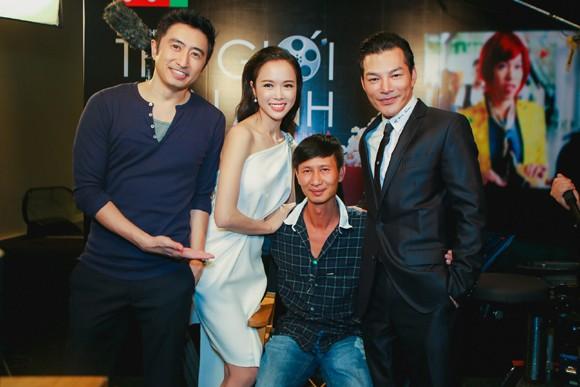 """Vũ Ngọc Anh gợi cảm bên Trần Bảo Sơn dự tiệc quảng bá phim """"Quyên"""" ảnh 5"""
