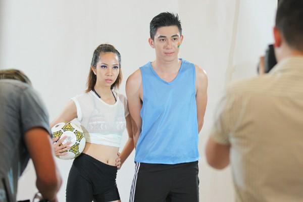 Đột nhập vòng thi tạo dáng trước ống kính của Vietnam's Next Top Model 2015 ảnh 7