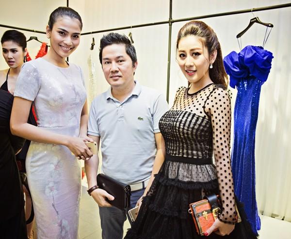 MC Kim Trang rạng ngời cùng bầu Hoà dự tiệc thời trang ảnh 6