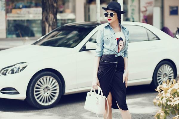 Diễn viên Sella Trương diện street style ấn tượng xuống phố ảnh 9