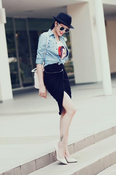Diễn viên Sella Trương diện street style ấn tượng xuống phố ảnh 8