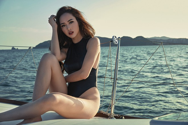 Vũ Ngọc Anh khoe đường cong cực nóng bỏng trên du thuyền triệu đô ảnh 5