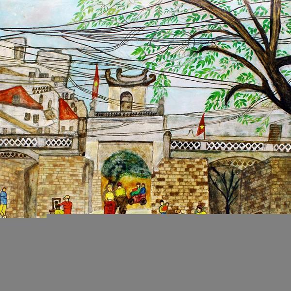 Phu nhân Đại sứ Vương quốc Marốc triển lãm tranh tại Hà Nội ảnh 1