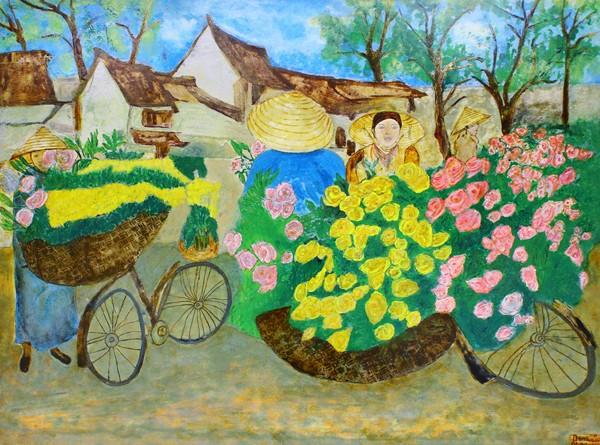Phu nhân Đại sứ Vương quốc Marốc triển lãm tranh tại Hà Nội ảnh 2