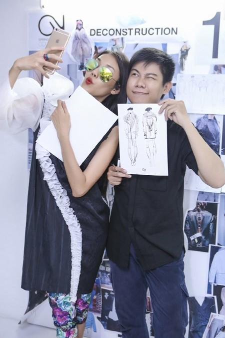 """Lan Khuê """"đội nắng"""" đi thử trang phục tham dự Vietnam International Fashion Week 2016 ảnh 8"""