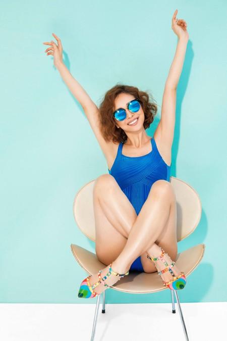 Hoa hậu Jennifer Phạm khoe đường cong gợi cảm với bikini