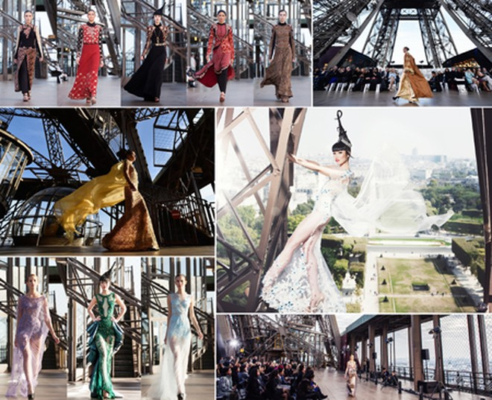 Siêu mẫu Jessica Minh Anh và những sàn diễn thời trang không tưởng ảnh 1