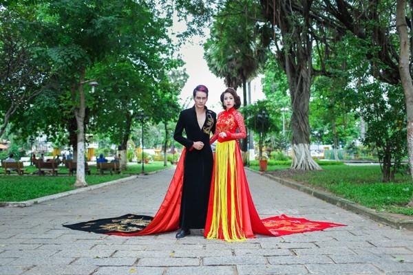 Miss Ngọc Trân khoe sắc rạng ngời với thiết kế của Minh Hùng