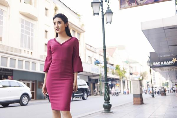 """Á hậu Huyền My diện """"váy bút chì"""" tôn đường cong quyến rũ"""