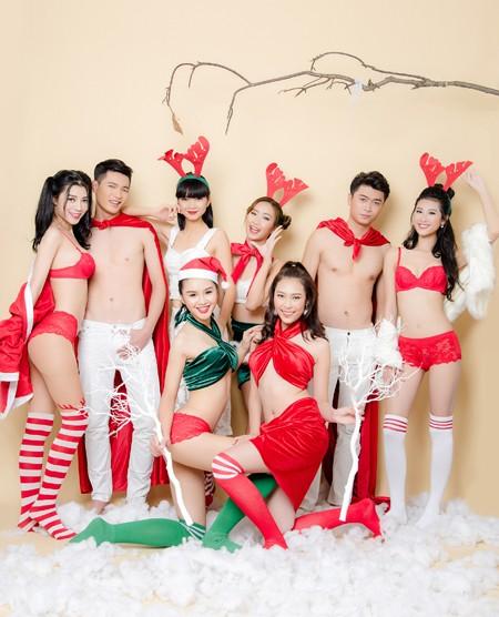 """Siêu mẫu Hạ Vy """"nóng bỏng"""" đón Giáng sinh bên dàn mẫu nam trẻ trung ảnh 1"""