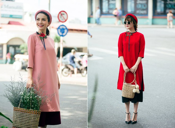 """Vừa kế thừa nét truyền thống mà vẫn tân tiến phù hợp với hơi thở của thời đại, những mẫu áo dài này sẽ là """"sự lựa chọn hoàn hảo"""" cho các bạn gái trong dịp Tết đến xuân về."""