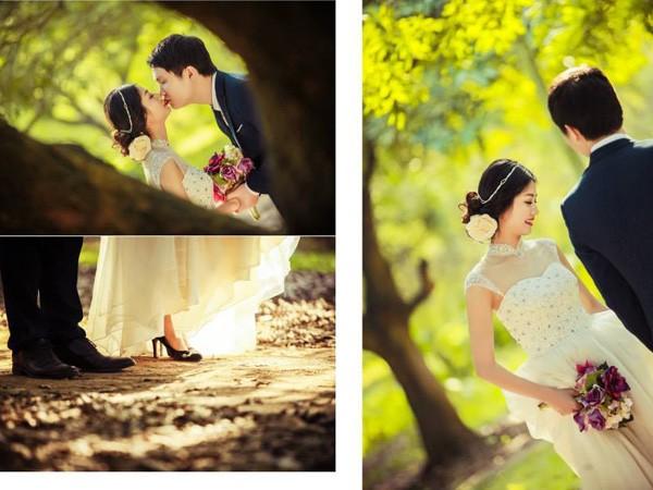 Thời tiết Hà Nội đang rất ủng hộ cho các cặp đội chụp ảnh cưới.