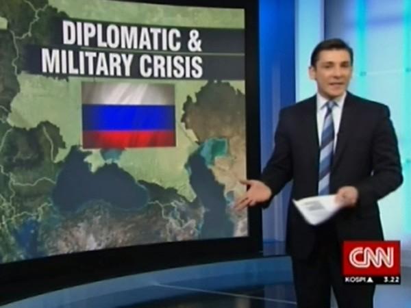 """CNN đã """"vô tình"""" sáp nhập Ukraine vào Nga, dù đài này đứng trên quan điểm chống Nga"""