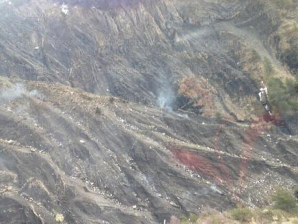 Vị trí được cho là nơi máy bay đã rơi xuống