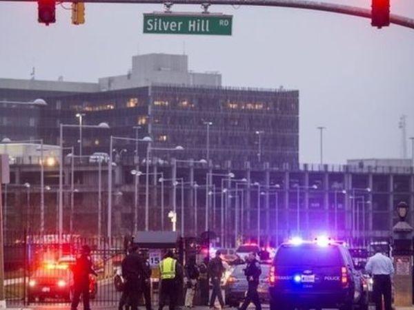 Nhiều nhân viên an ninh xuất hiện tại hiện trường vụ nổ súng.