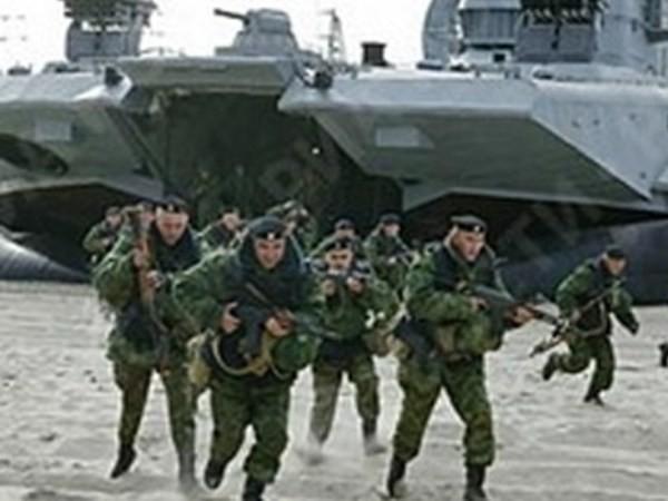 Lính Nga trong một cuộc tập trận