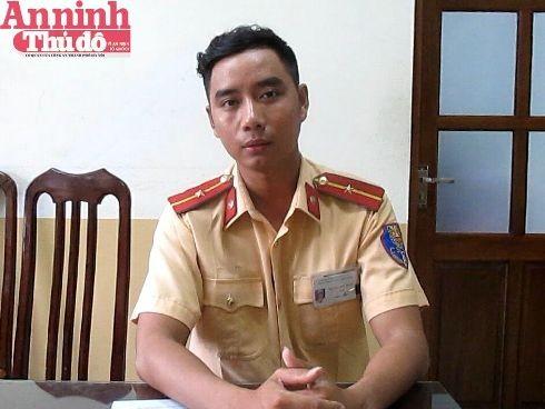 """Thiếu úy Nguyễn Đức Hoàn - người trực tiếp truy đuổi và khống chế """"tài xế điên"""" chạy trốn CSGT"""
