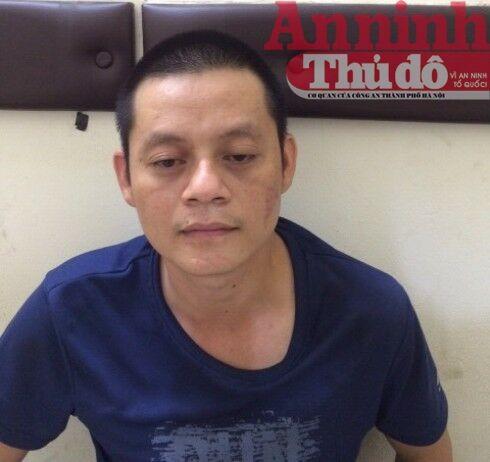 Đối tượng Giáp Văn Tuấn bị tạm giữ tại cơ quan công an