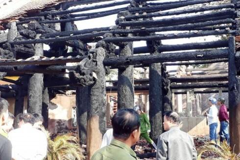 Hiện trường vụ hỏa hoạn sau khi được dập lửa