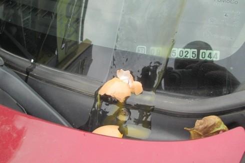 Ném trứng vào kính chống gió ô tô: Tầm nhìn có bị hạn chế sau khi bật tính năng làm sạch kính?