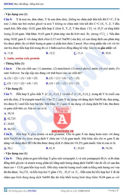 Tự đánh giá trước Kỳ thi THPT Quốc gia 2018 (3): Kiểm tra môn Hóa học & Đáp án môn Vật lí ảnh 15