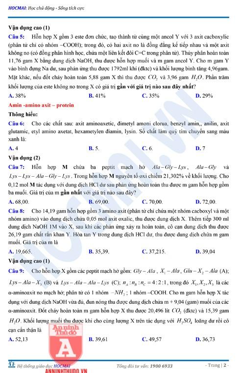 Tự đánh giá trước Kỳ thi THPT Quốc gia 2018 (3): Kiểm tra môn Hóa học & Đáp án môn Vật lí ảnh 4