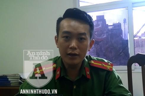 Thượng úy Đinh Tiến Dũng chia sẻ với PV Báo ANTĐ