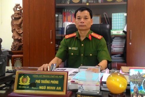 Thượng tá Ngô Minh An luôn gây ấn tượng mạnh với người đối diện vì sự quyết tâm, nhiệt huyết trong công việc