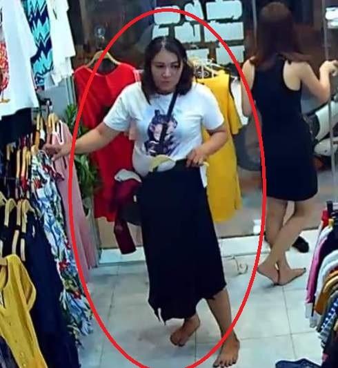 """Ăn trộm thành """"nghề"""", Hương chẳng e ngại hệ thống camera tại cửa hàng, mà sẵn sàng để rõ mặt khi thực hiện hành vi phạm tội"""